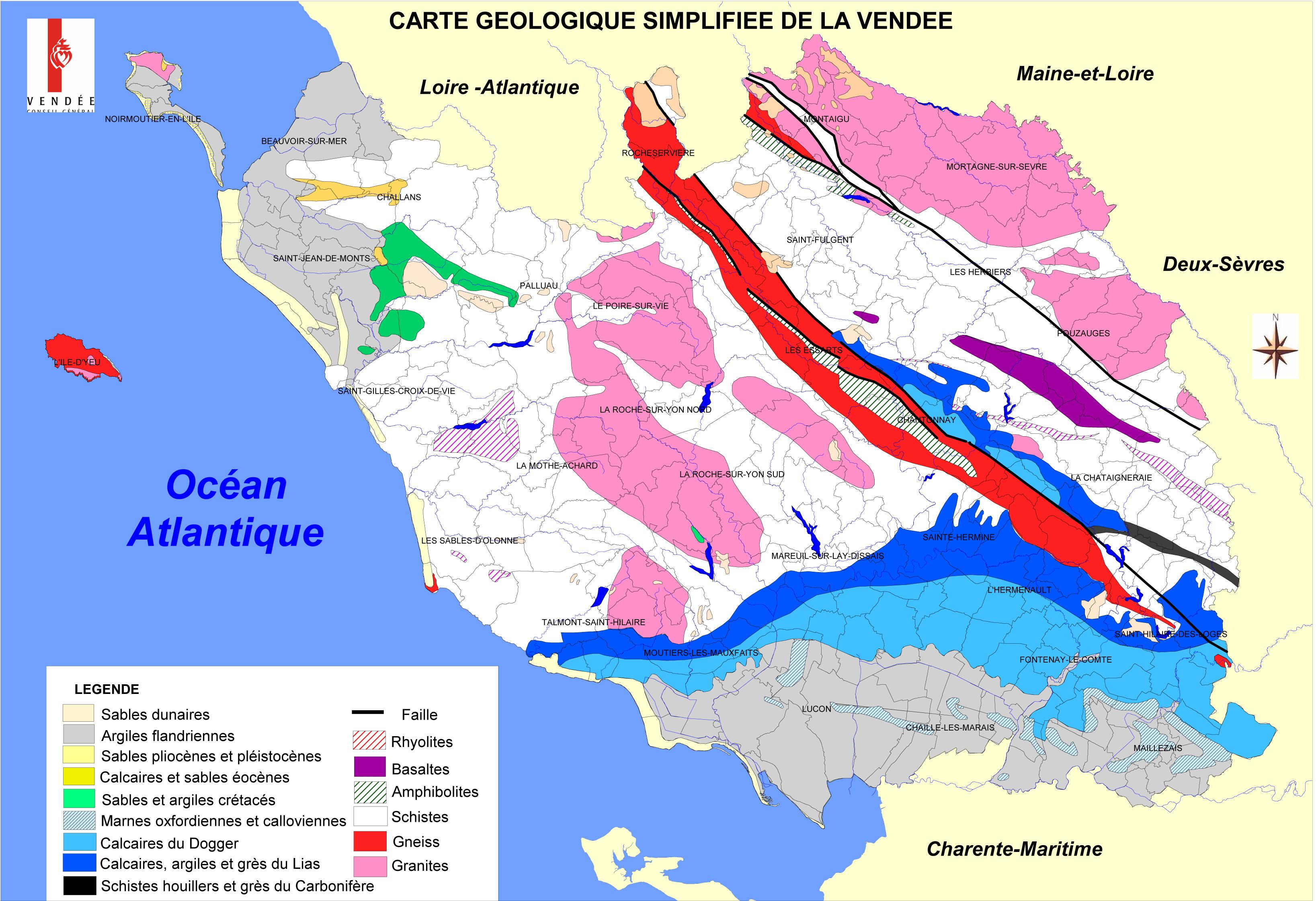 Carte g ologique 2007 association vend enne de g ologie - Chambre des notaires de loire atlantique ...