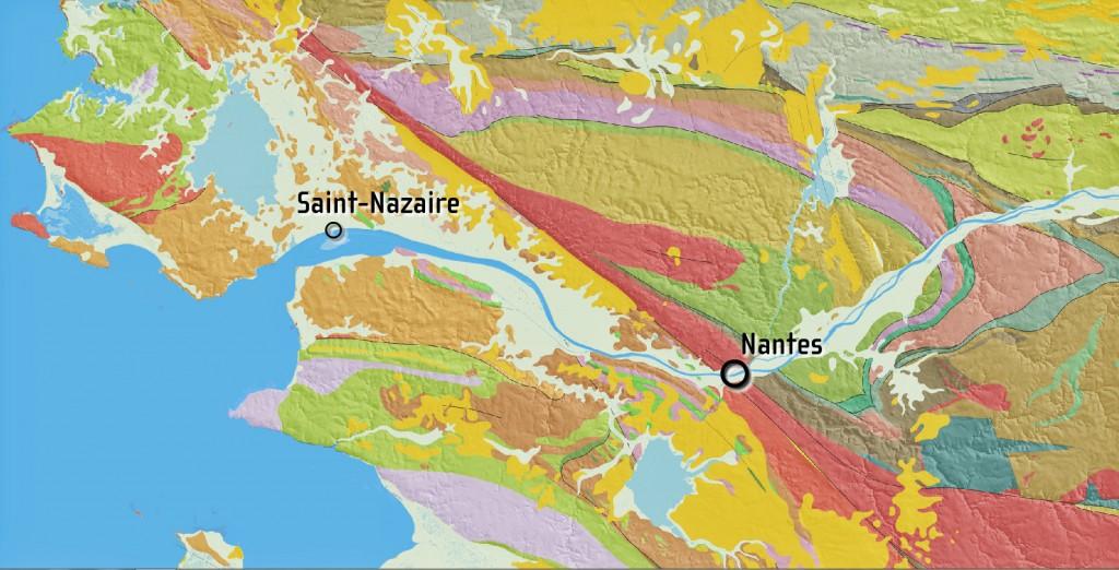 carte géologique estuaire