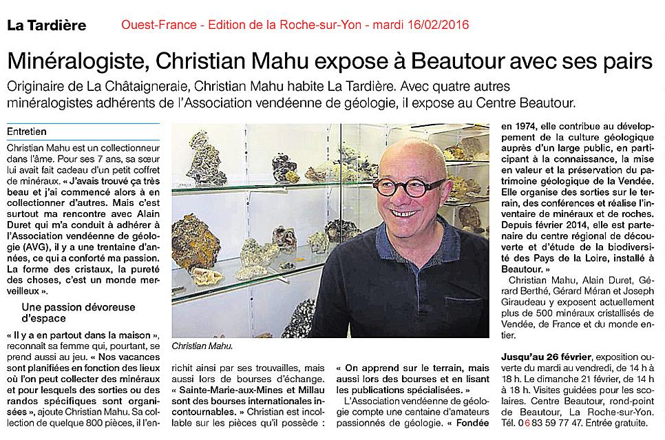 2016-02-16.OF Article 2 Christian Mahu expo minéraux