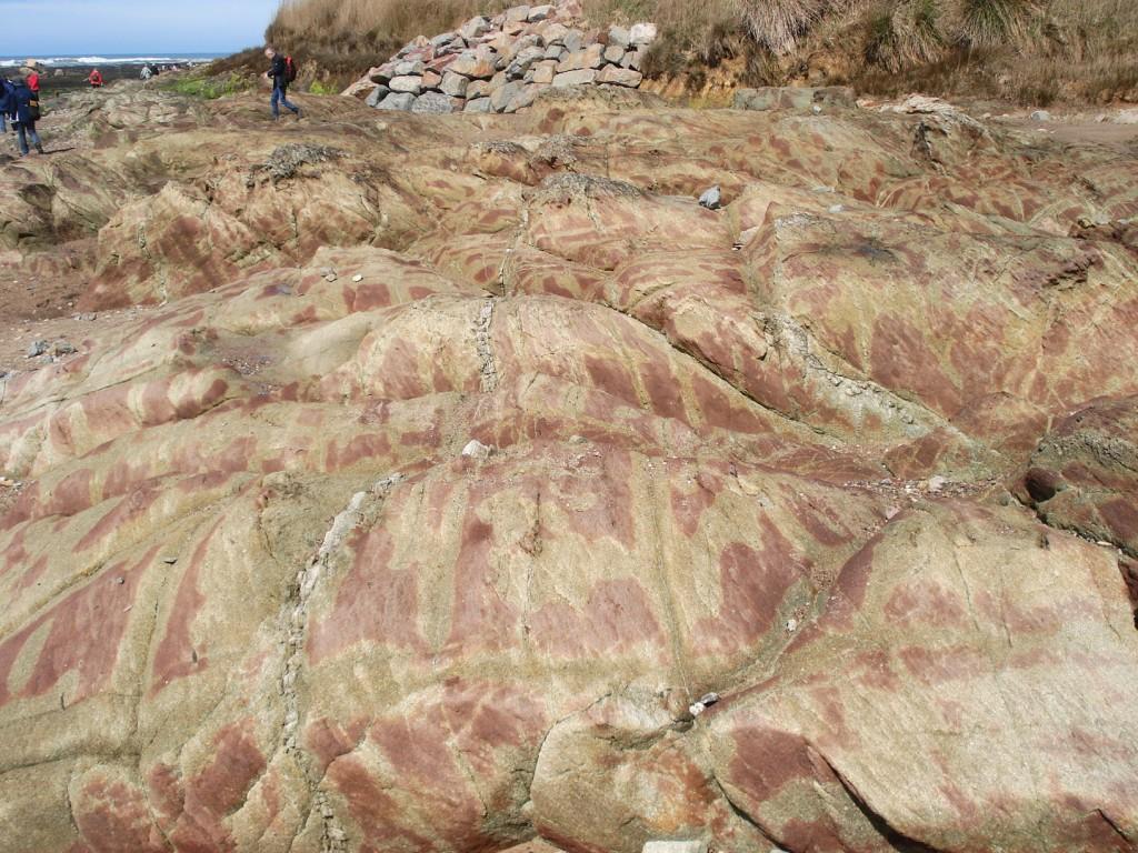 Empilement de coulées de pyroclastites - La Normandelière (85 - Brétignolles-sur-Mer)
